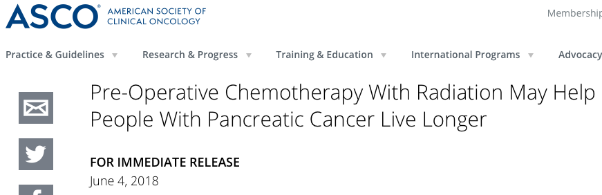 Living Longer: Early Stage/ Resectable PancreaticCancer